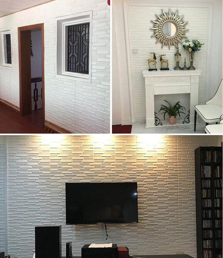 新品、未使用50枚 70cm×77cm 背景壁 3D立体レンガ模様壁紙 防水 汚い防 止 カビ防止 エコ素材_画像5