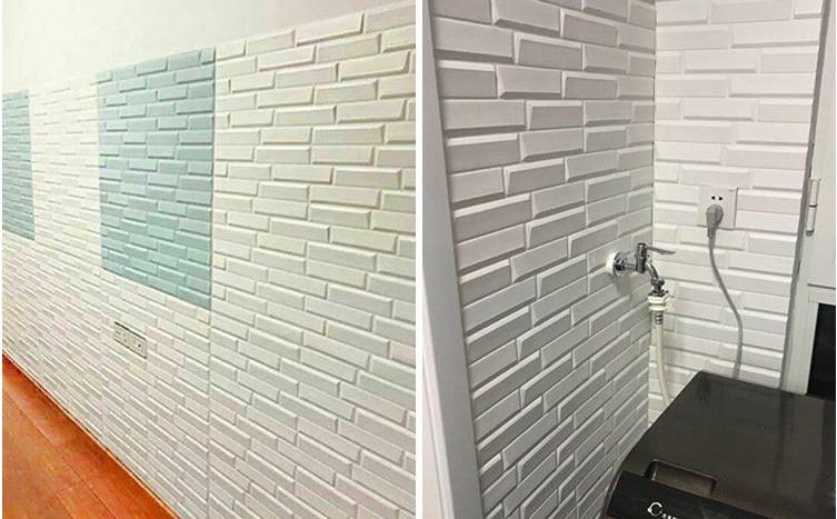 新品、未使用50枚 70cm×77cm 背景壁 3D立体レンガ模様壁紙 防水 汚い防 止 カビ防止 エコ素材_画像6
