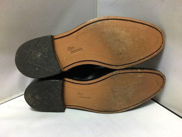 【超美品/幅広】ALLEN EDMONDS アレンエドモンズ Park Avenue パークアベニュー ストレートチップ US9.5E(約27.5cm) ブラック 革靴_画像6