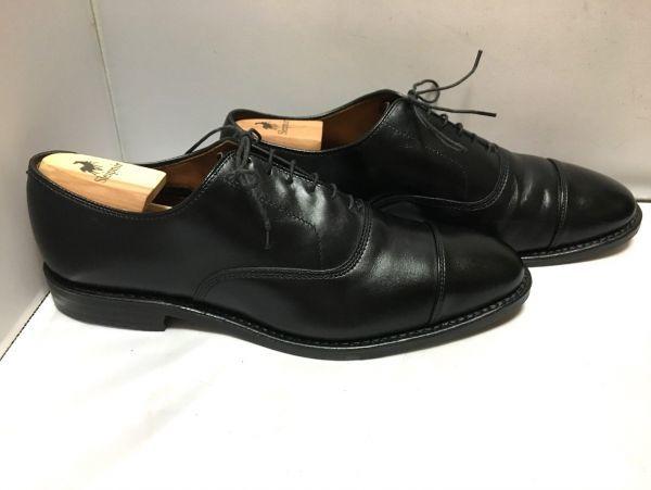 【超美品/幅広】ALLEN EDMONDS アレンエドモンズ Park Avenue パークアベニュー ストレートチップ US9.5E(約27.5cm) ブラック 革靴_画像3