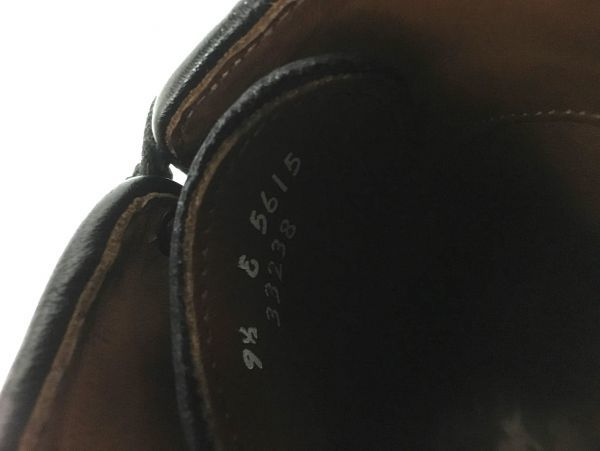 【超美品/幅広】ALLEN EDMONDS アレンエドモンズ Park Avenue パークアベニュー ストレートチップ US9.5E(約27.5cm) ブラック 革靴_画像7