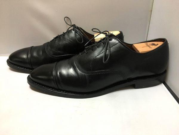 【超美品/幅広】ALLEN EDMONDS アレンエドモンズ Park Avenue パークアベニュー ストレートチップ US9.5E(約27.5cm) ブラック 革靴_画像4