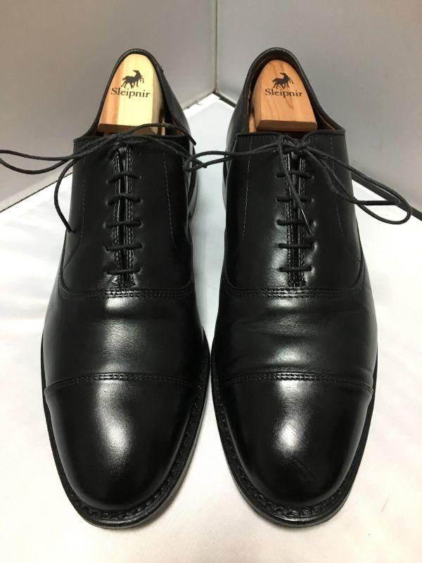 【超美品/幅広】ALLEN EDMONDS アレンエドモンズ Park Avenue パークアベニュー ストレートチップ US9.5E(約27.5cm) ブラック 革靴_画像2
