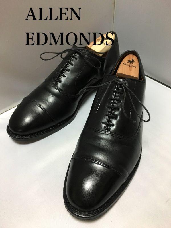 【超美品/幅広】ALLEN EDMONDS アレンエドモンズ Park Avenue パークアベニュー ストレートチップ US9.5E(約27.5cm) ブラック 革靴