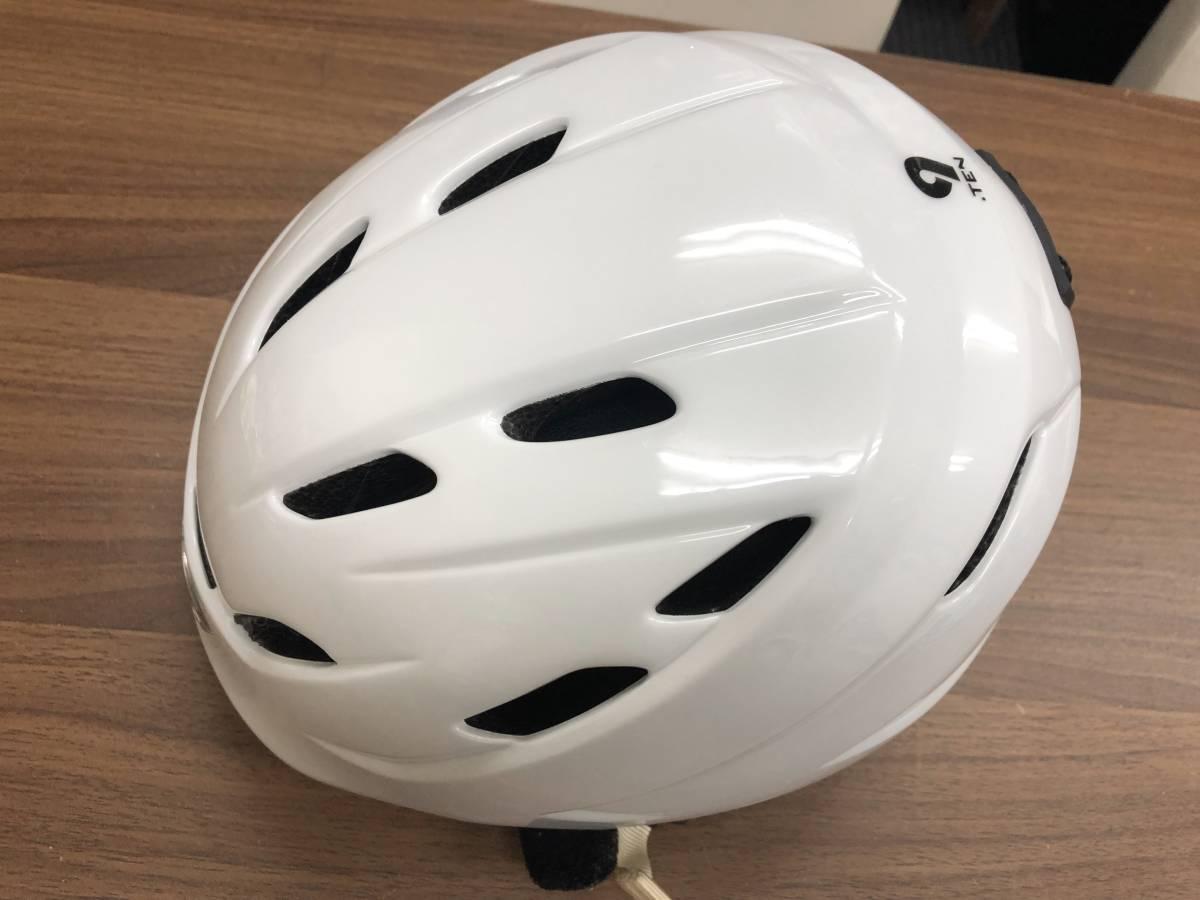 スノーボード用品 ヘルメット GIRO ジロ 9.TEN ホワイト サイズM(55.5~59cm)
