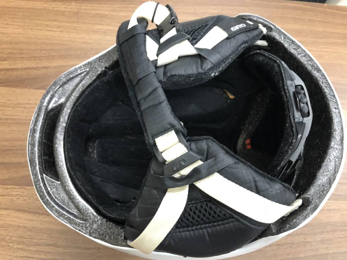 スノーボード用品 ヘルメット GIRO ジロ 9.TEN ホワイト サイズM(55.5~59cm)_画像2