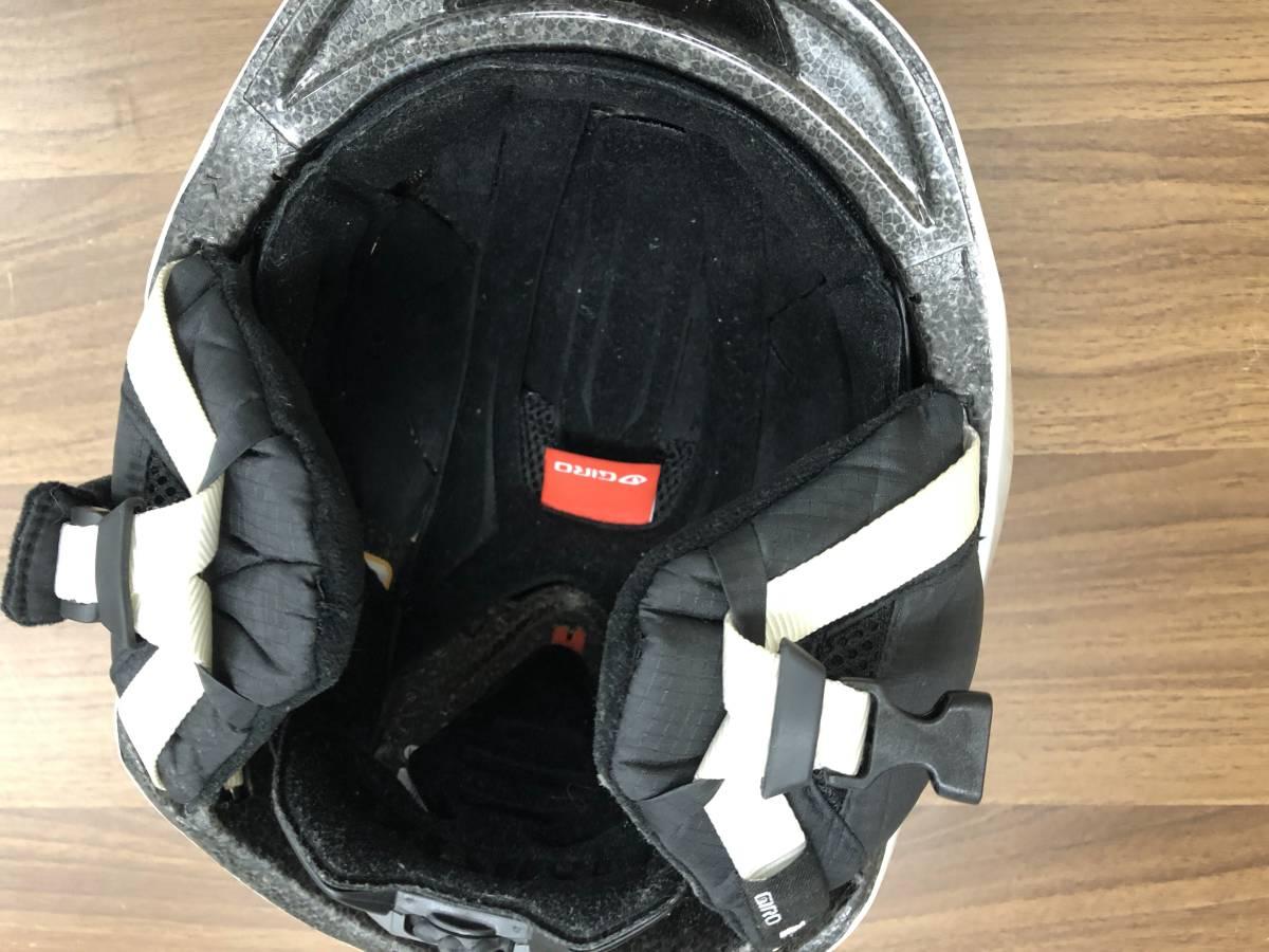 スノーボード用品 ヘルメット GIRO ジロ 9.TEN ホワイト サイズM(55.5~59cm)_画像3
