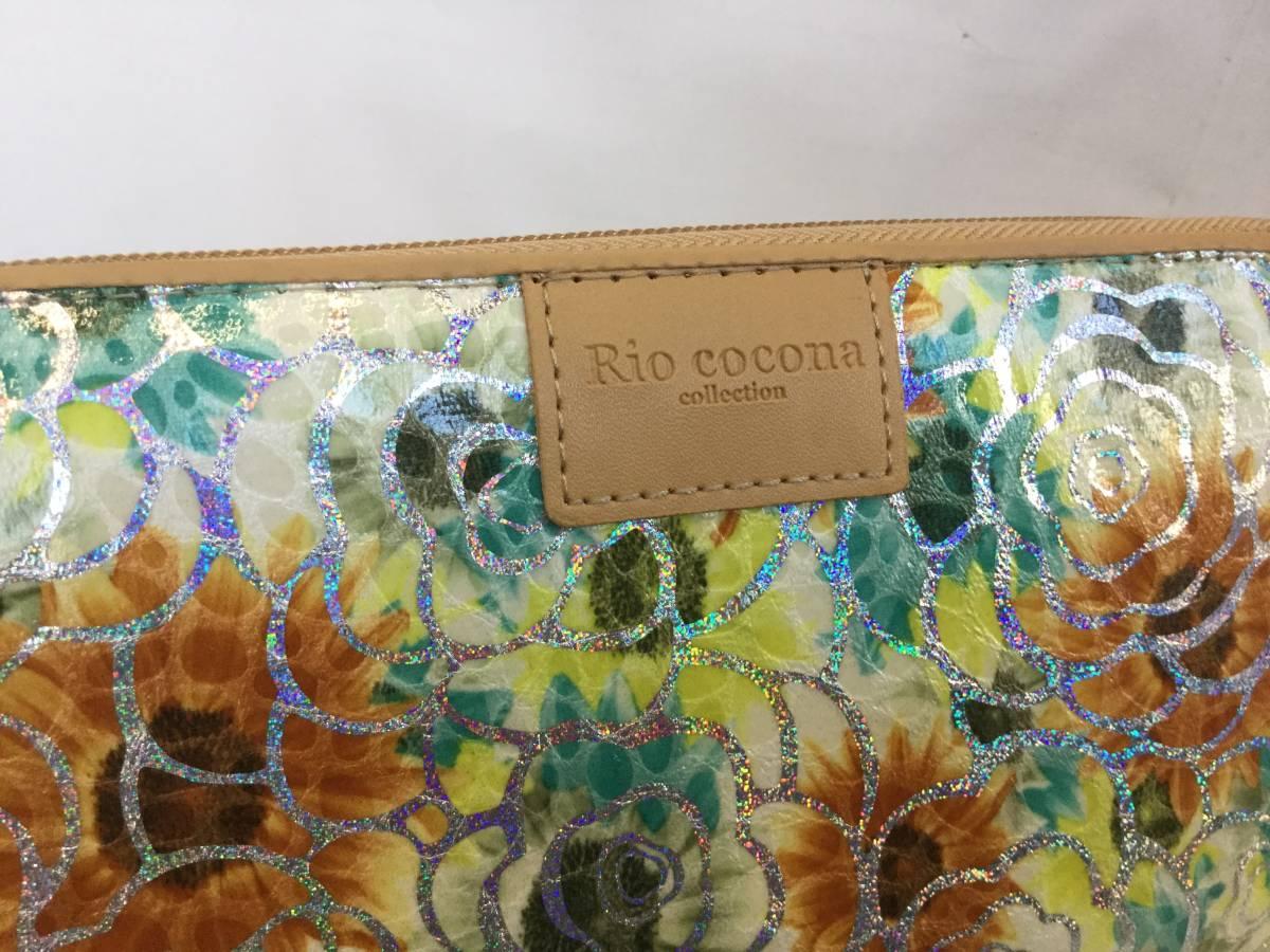 ♪リオココナ Rio cocona ゴールド薔薇と花々 風水 ラウンドジップ長財布 新品 未使用♪_画像5