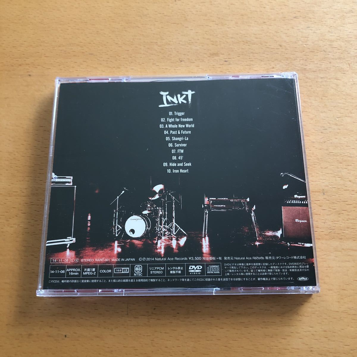 INKT『INKT』初回限定盤CD+DVD☆帯付☆美品☆アルバム☆ステッカー付☆96_画像4