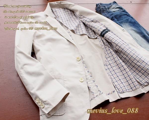 新品★春物 新作 メンズ *C&A*simple-design スタイリッシュ テーラードジャケット ホワイトベージュ系/XL アウター 紳士 春ジャケット_画像3