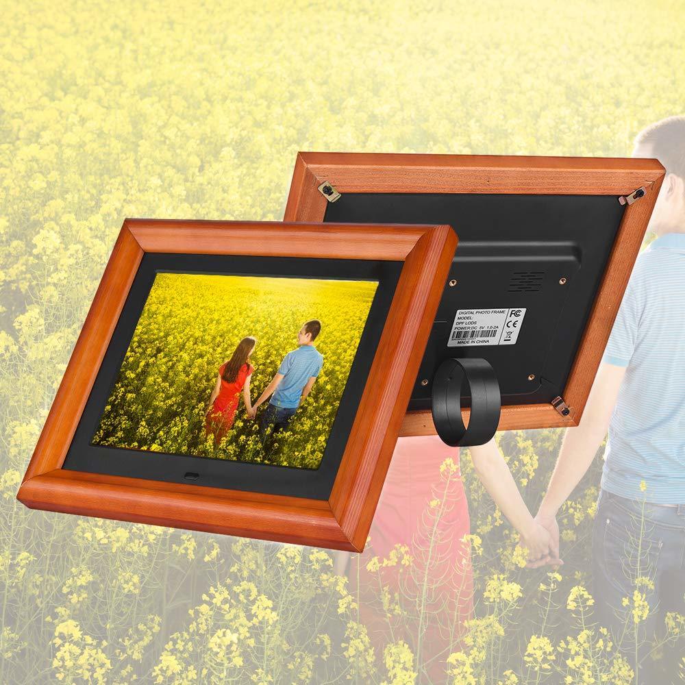 Andoer 木製 デジタルフォトフレーム 8インチ 1280 * 800 高解像度 LED 写真/動画/音楽再生 目覚まし時計 カレンダー 多機能フォトフレーム_画像8