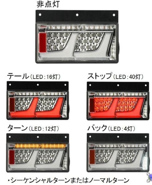 新品 小糸 LEDテールランプ シーケンシャル LEDRCL-24R2SC/L2SC コイト KOITO 2連 左右セット_画像2