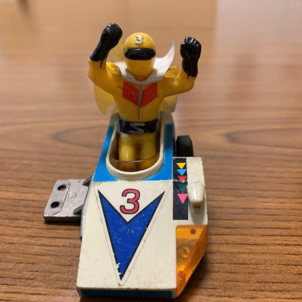 当時物 秘密戦隊ゴレンジャーのアオレンジャーとキレンジャー 超合金ポピー バイク無しサイドだけジャンク品_画像4