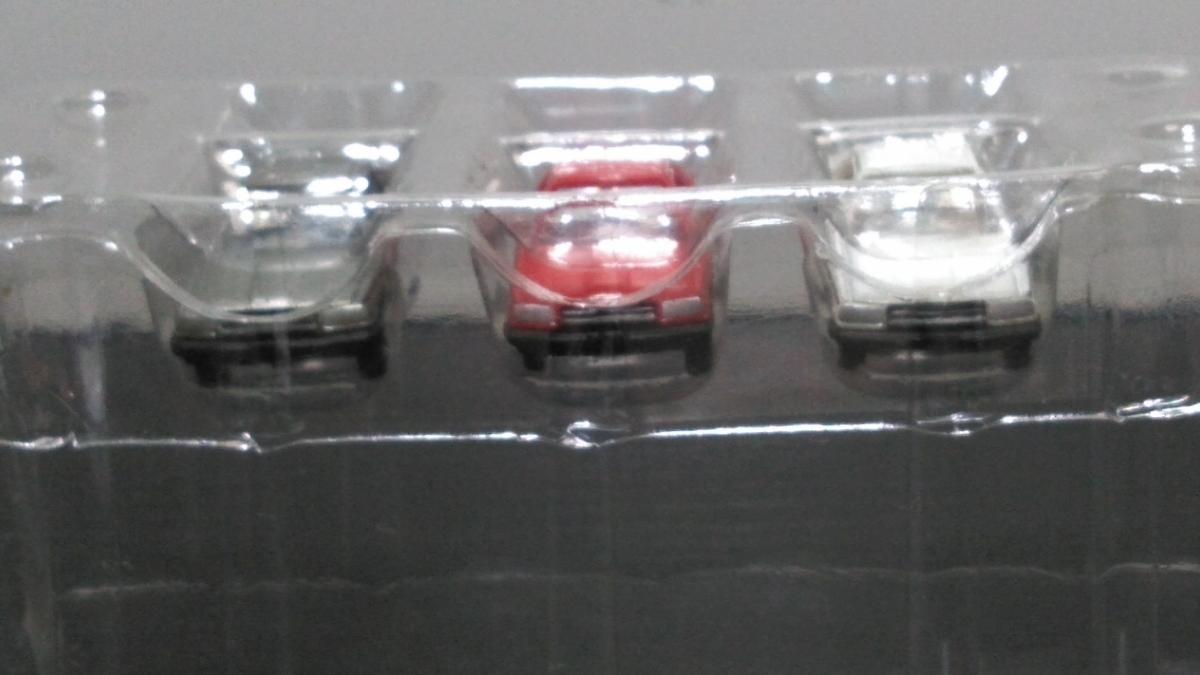 ザカーコレクション第2弾 日産 スカイライン 3台セットシルバー、レッド、ホワイト R30