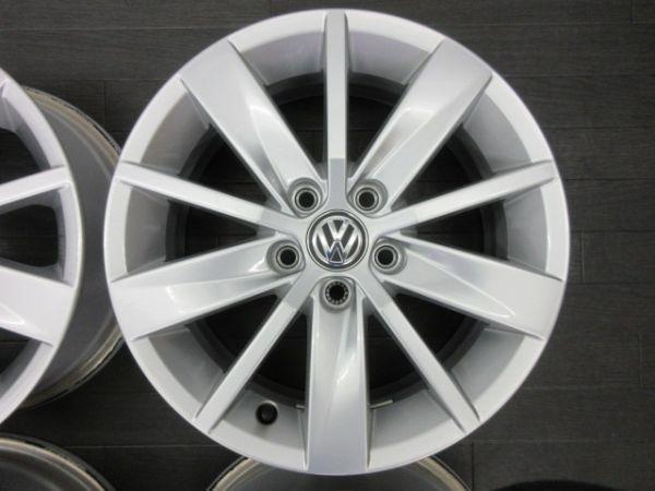 中古ホイール フォルクスワーゲン VW ポロ 6R 純正 15インチ 6J +40 PCD 100 5穴 1台分 ノーマル 純正ホイール_画像3