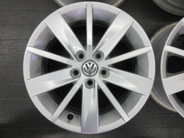 中古ホイール フォルクスワーゲン VW ポロ 6R 純正 15インチ 6J +40 PCD 100 5穴 1台分 ノーマル 純正ホイール_画像5
