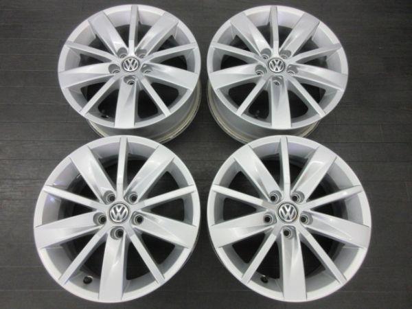 中古ホイール フォルクスワーゲン VW ポロ 6R 純正 15インチ 6J +40 PCD 100 5穴 1台分 ノーマル 純正ホイール