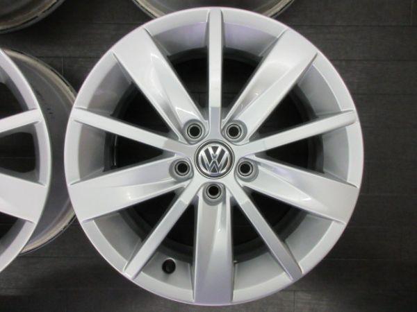 中古ホイール フォルクスワーゲン VW ポロ 6R 純正 15インチ 6J +40 PCD 100 5穴 1台分 ノーマル 純正ホイール_画像4