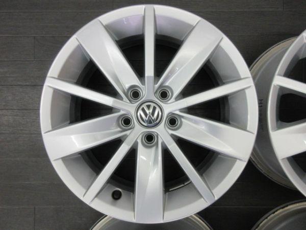 中古ホイール フォルクスワーゲン VW ポロ 6R 純正 15インチ 6J +40 PCD 100 5穴 1台分 ノーマル 純正ホイール_画像2