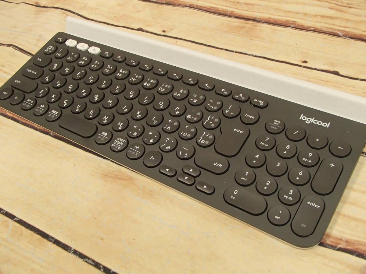 □Logicool ロジクール K780 マルチデバイス BLUETOOTH キーボード スマホ、タブレット、パソコンをこれ一台で□_画像5