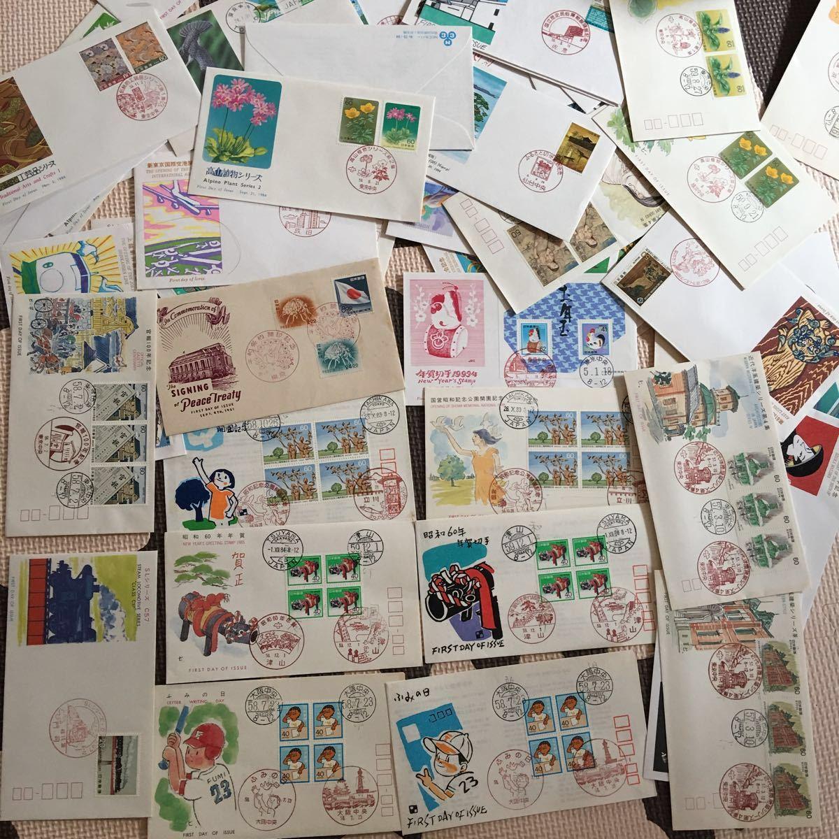 ◆大量◆◆→→→日本切手・FDC ・初日カバー・切手趣味週間・年賀・ふるさと・記念シリーズ・他・アルバム4冊約300枚まとめて◆◆_画像10