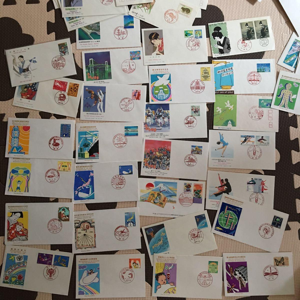 ◆大量◆◆→→→日本切手・FDC ・初日カバー・切手趣味週間・年賀・ふるさと・記念シリーズ・他・アルバム4冊約300枚まとめて◆◆_画像8