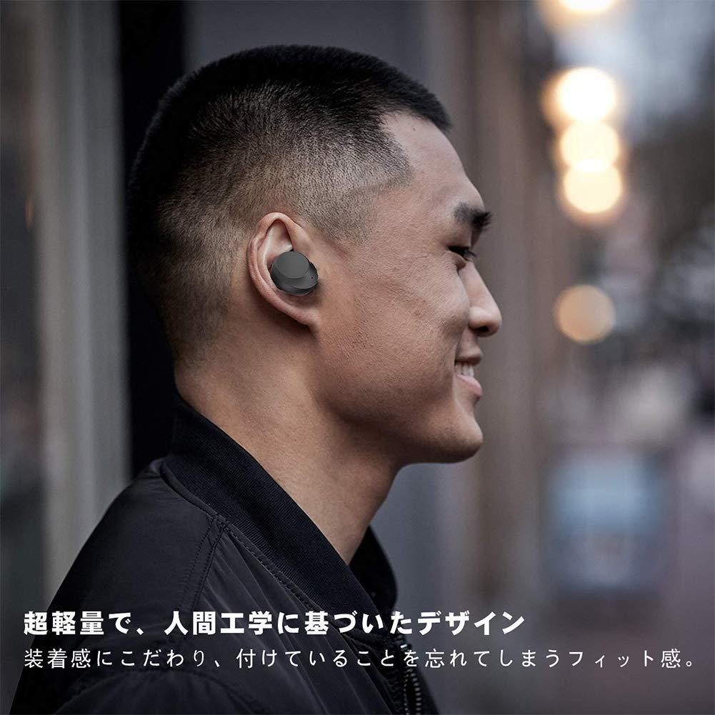 完全ワイヤレスイヤホン おすすめ Bluetooth5.0+EDR 左右分離型 両耳 IPX8完全防水 マイク内蔵 iPhone対応 通話 90時間駆動 3000mAh充電_画像3