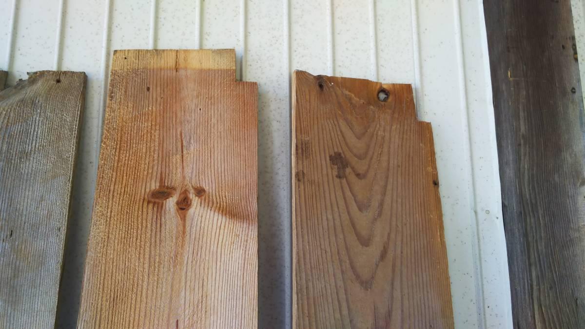 【築100年以上の古民家】古材の床板9枚セット⑮ 古板 木材 無垢材 天然素材 ビンテージウッド アンティーク カフェ 建材_画像2