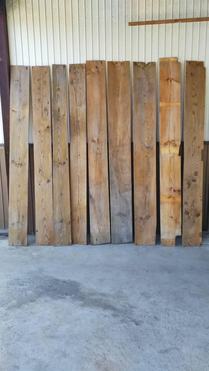 【築100年以上の古民家】古材の床板9枚セット⑮ 古板 木材 無垢材 天然素材 ビンテージウッド アンティーク カフェ 建材