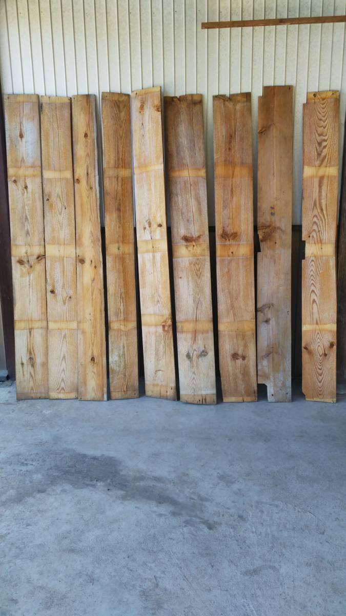 【築100年以上の古民家】古材の床板9枚セット⑮ 古板 木材 無垢材 天然素材 ビンテージウッド アンティーク カフェ 建材_画像8