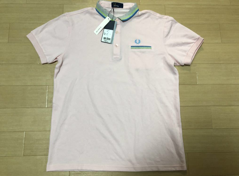olika design ny hög detaljerad look Fred Perry chip la ink relic pocket polo-shirt L pink . sweat ...