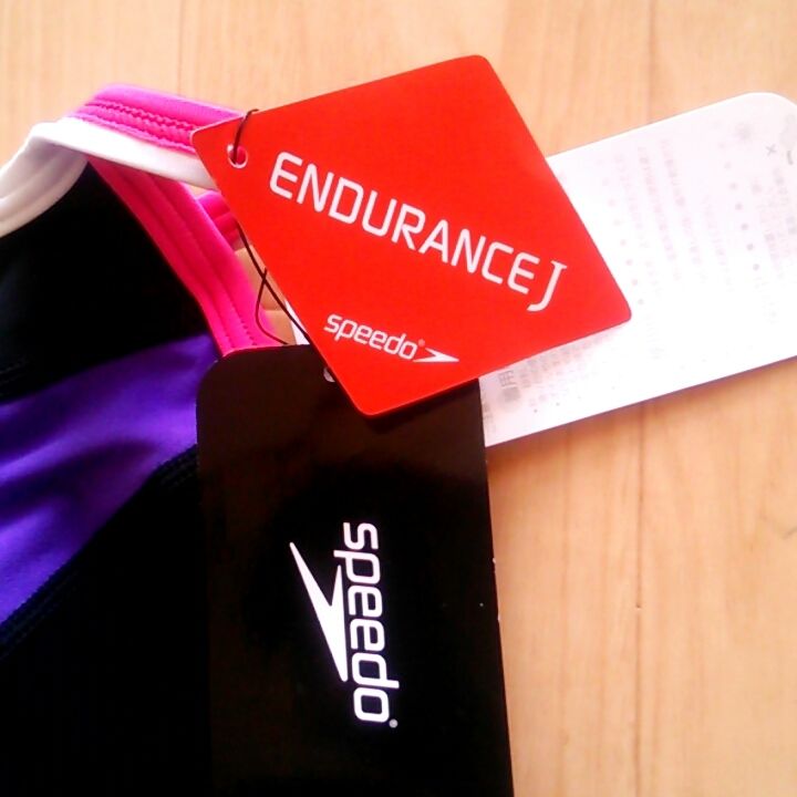 speedo スピード水着 競泳 スポーツ Lサイズ ブラック×ヴァイオレット 定価7452円 新品タグ付き_画像7