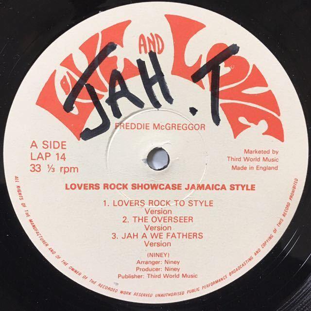 【UKオリジナル】FREDDIE McGREGOR / LOVERS ROCK SHOWCASE JAMAICA STYLE_画像3