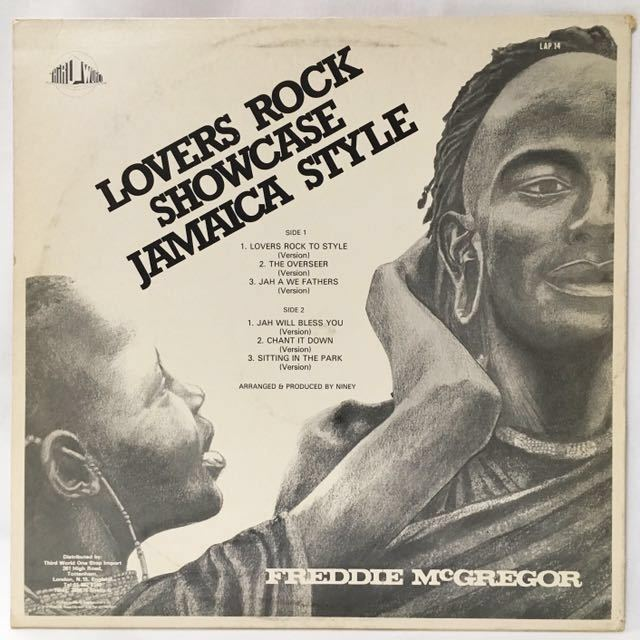 【UKオリジナル】FREDDIE McGREGOR / LOVERS ROCK SHOWCASE JAMAICA STYLE_画像2