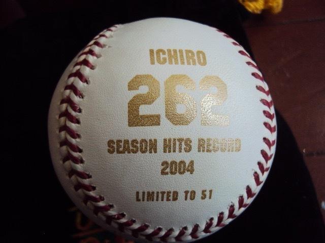 レア!ICHIROイチロー 記念サイン入りボール 2004!_画像3