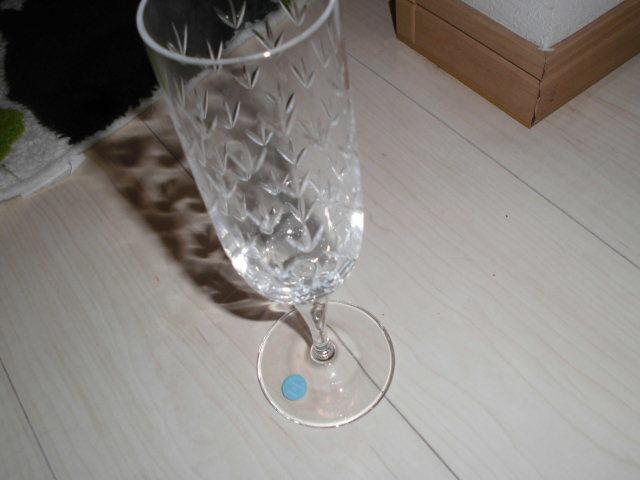 処分!新品ティファニー シャンパングラス・ワイングラス 2個セットx2種類 計4個(2箱)セットまとめて フローレット他 _画像9