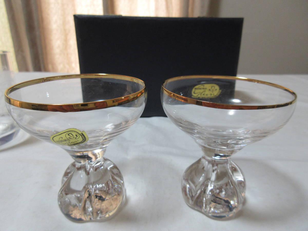 ボヘミア ペアロックグラスとペア冷酒グラス_画像6