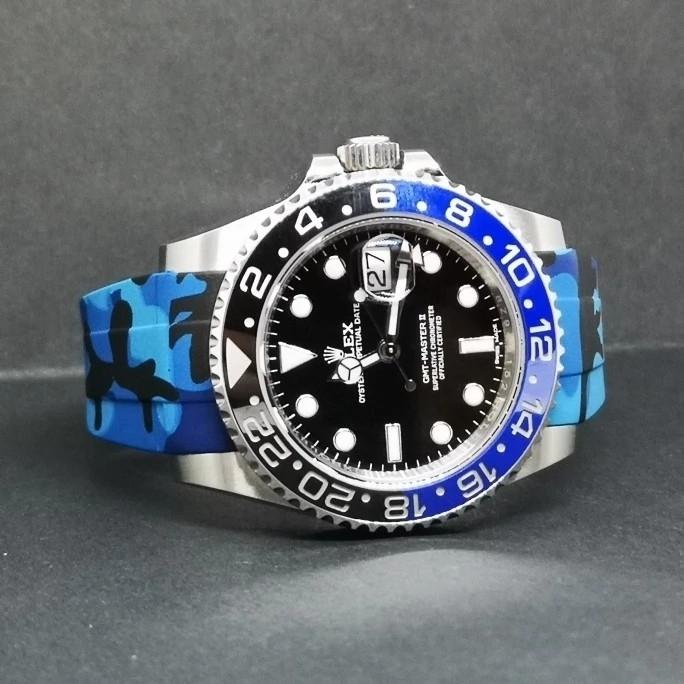 【驚愕】ROLEX ロレックス 対応 互換用 社外品 腕時計 ラバー バックル  防水 取付幅20mm 冠_画像10