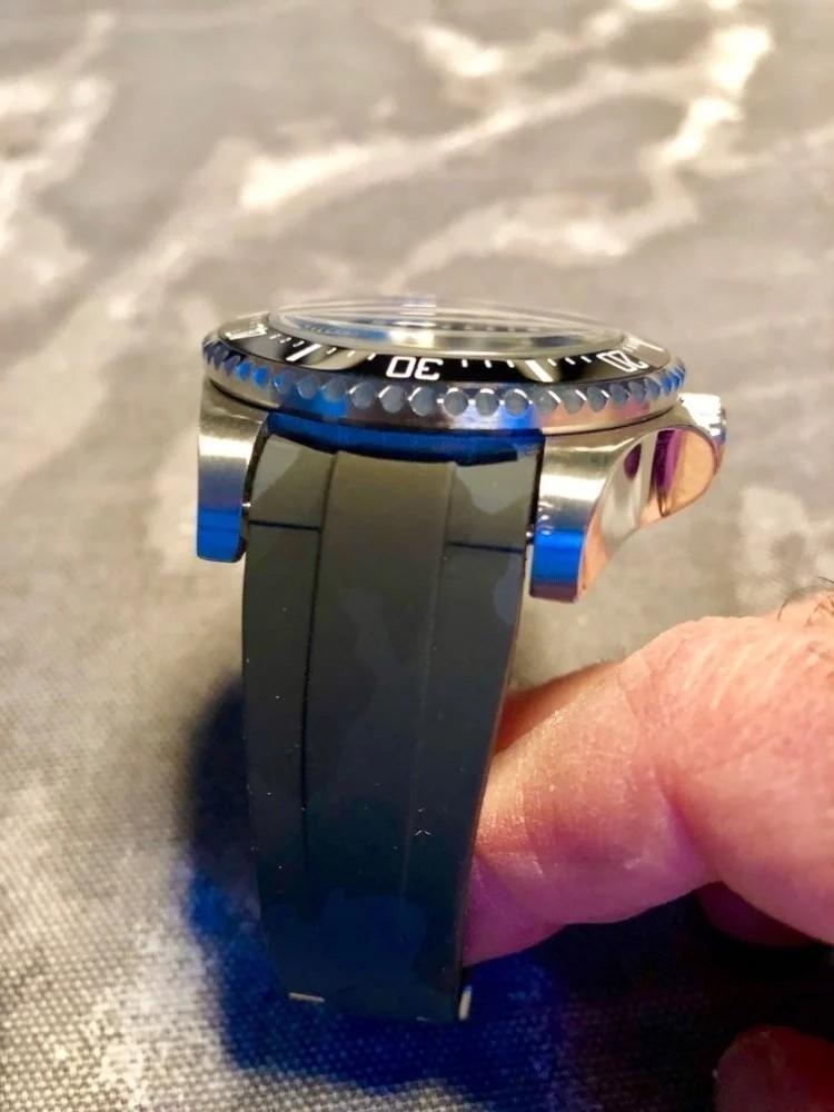 【驚愕】ROLEX ロレックス 対応 互換用 社外品 腕時計 ラバー バックル  防水 取付幅20mm 冠_画像5