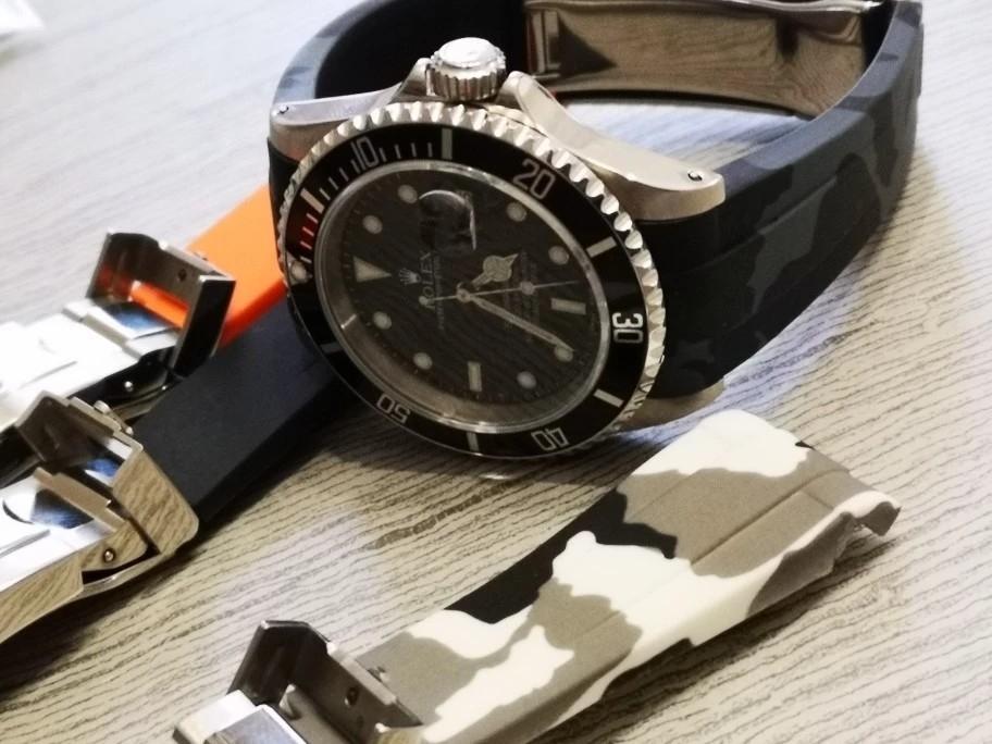 【驚愕】ROLEX ロレックス 対応 互換用 社外品 腕時計 ラバー バックル  防水 取付幅20mm 冠_画像9