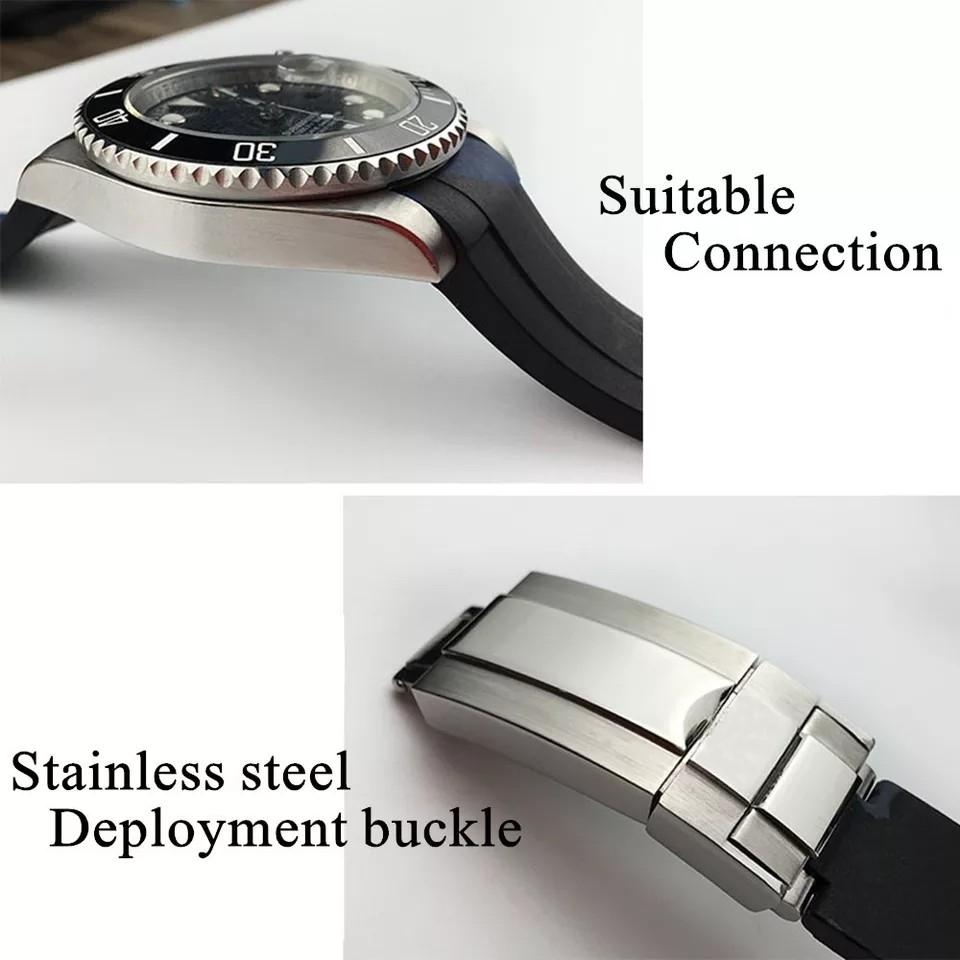【驚愕】ROLEX ロレックス 対応 互換用 社外品 腕時計 ラバー バックル  防水 取付幅20mm 冠_画像3