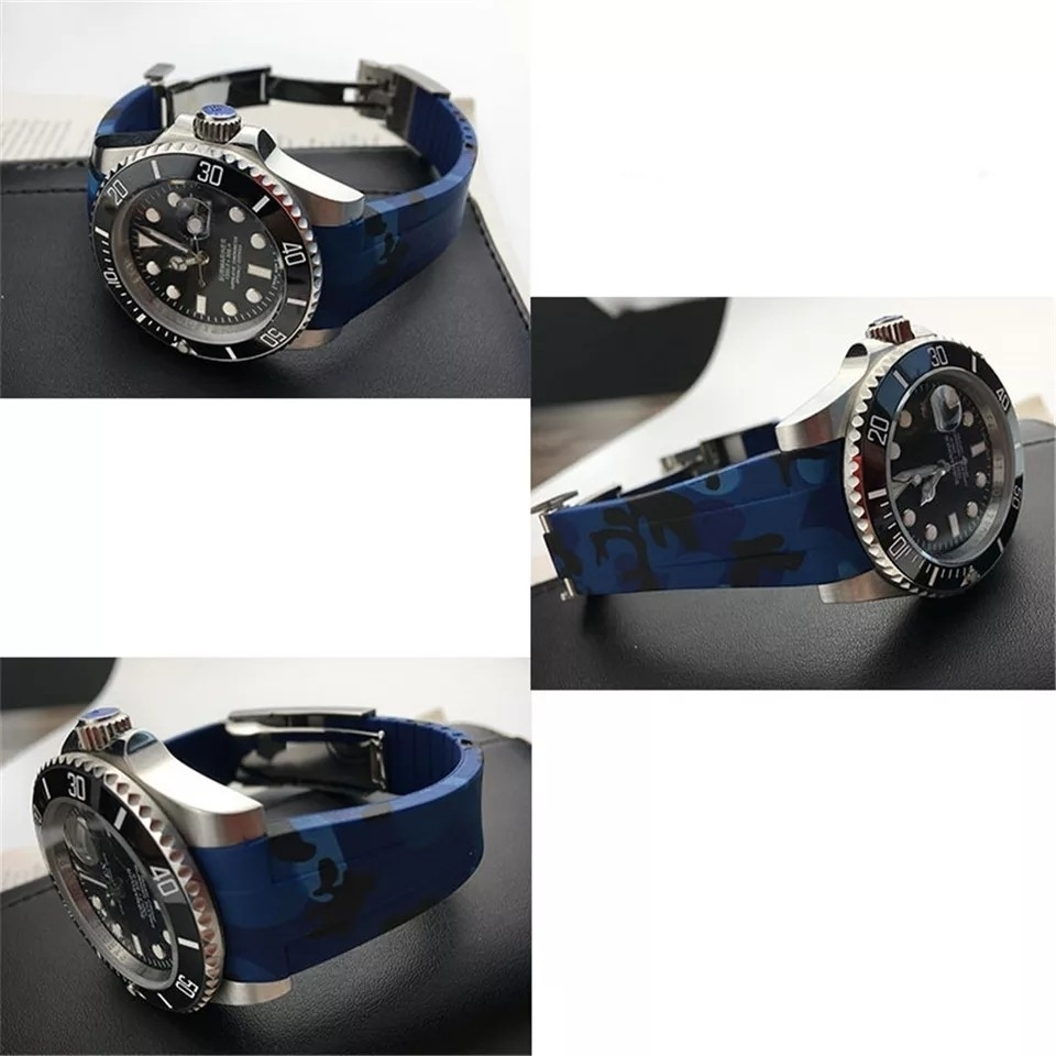【驚愕】ROLEX ロレックス 対応 互換用 社外品 腕時計 ラバー バックル  防水 取付幅20mm 冠_画像2