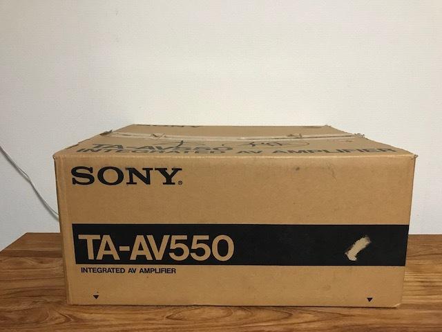 ★動作品 SONY TA-AV550 ソニー AVアンプ・プリメインアンプ_画像4