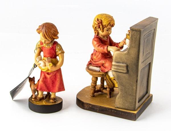 美品 2点 DOLFI ドルフィ イタリア製 木彫 人形 マイファースト 花瓶 花器 フィギュア 置物_画像2