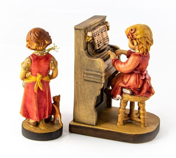 美品 2点 DOLFI ドルフィ イタリア製 木彫 人形 マイファースト 花瓶 花器 フィギュア 置物_画像4