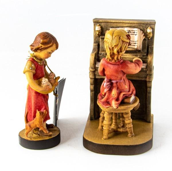 美品 2点 DOLFI ドルフィ イタリア製 木彫 人形 マイファースト 花瓶 花器 フィギュア 置物_画像3