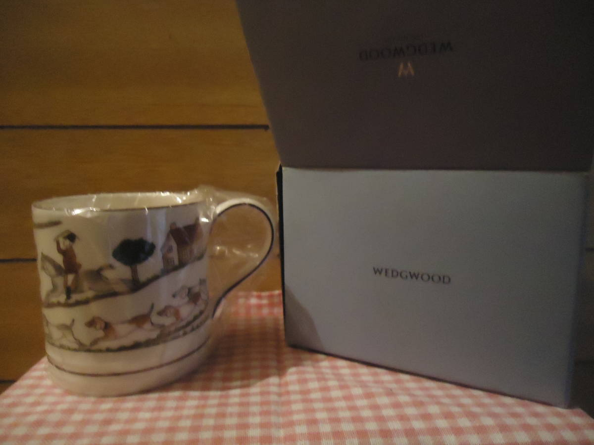 【送料込み】ウェッジウッド ハンティングシーン マグカップ タンカード
