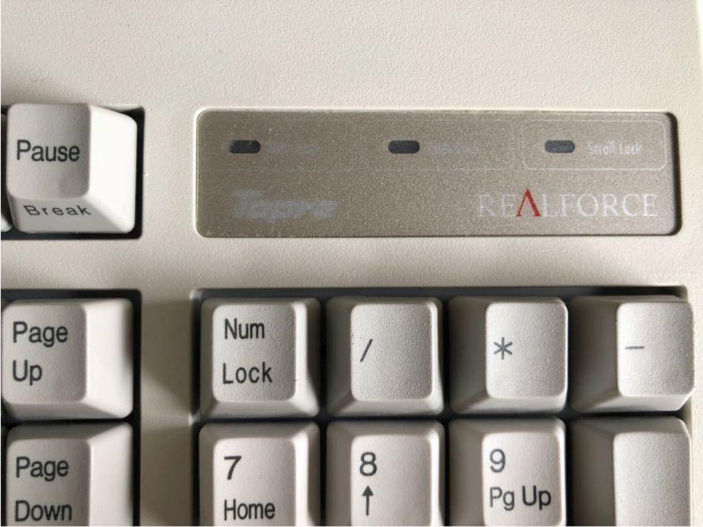 Topre REALFORCE 108UH SAO100 108UH USBキーボード_画像7