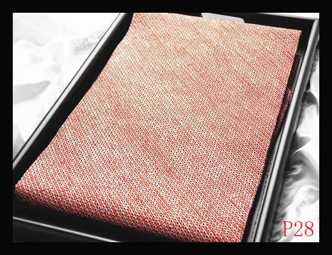 【P28】西陣織逸品 ばら鹿の子絞り 染め 紅緋胡粉色 高級美術名古屋帯 検★着物袋帯名古屋帯和装小物帯
