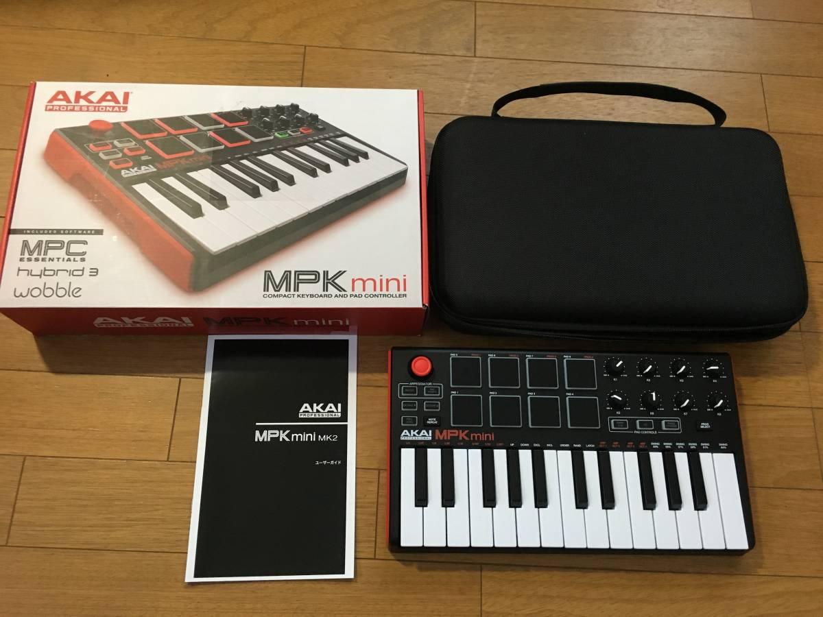 AKAI Professional USB MIDIキーボードコントローラー MPK mini +ケース